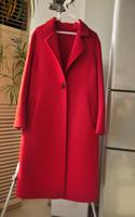 2016秋冬新款双面呢外套女纯手工修身显瘦大码欧美中长款羊绒大衣