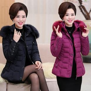 中老年女装冬装棉衣外套加厚短款妈妈装大码羽绒棉服40-50岁棉袄