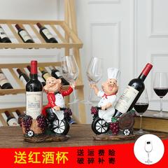 摆在酒柜上很漂亮,因为底部不稳,有点握不住__玩偶个性时尚红酒架摆件欧式高档摆设杯架树脂创意葡萄酒架酒杯架