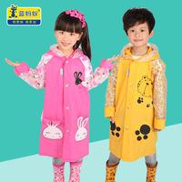 蓝蚂蚁儿童雨衣幼儿宝宝雨披小孩学生男童女童雨衣带书包位