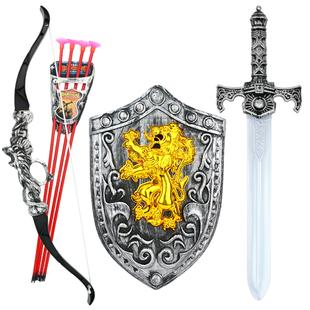 儿童弓箭吸盘射击玩具套装传统玩具宝盾牌组合男孩玩具礼物