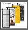谷仓门北欧定制彩雕室内厨房卫生间推拉玻璃移门黑板镜子铝合金门