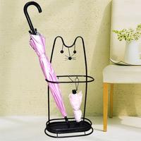 欧式铁艺家用酒店大堂雨伞架收纳架雨伞桶放伞桶招财猫伞架雨具架
