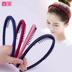 发箍带齿防滑布艺头箍韩国简约女发卡成人发夹顶夹洗脸插梳夹子