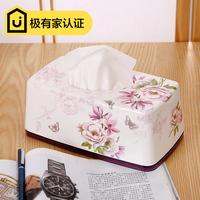 希尔 欧式美耐皿纸巾盒 时尚创意厕所大号小号抽纸盒