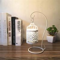特价现代欧式鸟笼式小夜灯创意镂空铁艺卧室床头装饰生日礼物台灯