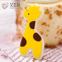 蛋糕西点冰淇淋DIY巧克力装饰片插片 小鹿袋装 长颈鹿72片/盒
