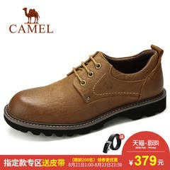 Camel骆驼男鞋 2018秋季时尚工装鞋 真皮户外鞋子男