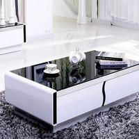 沙发茶几电视柜组合 室内外现代简约玻璃茶几长方形 钢化组装整装