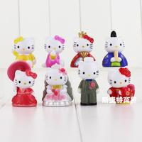 8款hellokitty公仔玩偶摆件传统结婚礼服版 创意的手办玩具模型