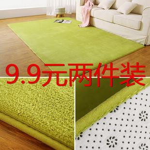 欧式珊瑚绒地毯飘窗毯家用简约现代茶几客厅地垫卧室长方形床边毯