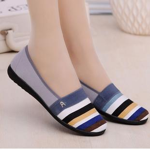 老北京鞋透气板鞋秋季平底女鞋防滑单鞋工作布鞋低帮夏季潮鞋
