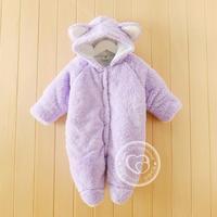 韩版婴儿连体衣服秋季冬季新生儿加厚保暖男女宝宝夹棉哈衣包邮
