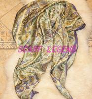 真丝超大方巾 140X140围巾 如意纹 三色 100%真丝加厚素缎
