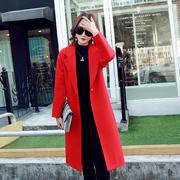 2016 LV de longues sections de laine épaissie de la Corée du Sud de cocon de vêtements d'hiver de type veste étudiantes coréen de manteau en drap
