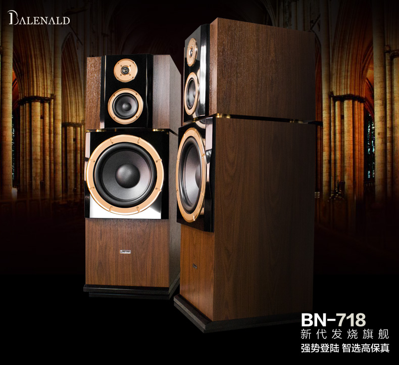 Balenald bn718 flagship 12 inch subwoofer home fever for 12 inch floor speakers