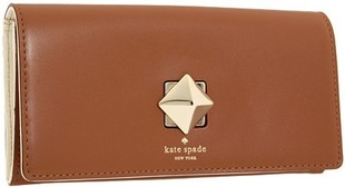 Kate Spade 女士牛皮灵巧转锁扣女包长款钱包