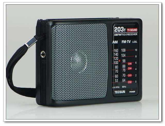 TECSUN R-203T FM/MW Radio/TV Sound Radio
