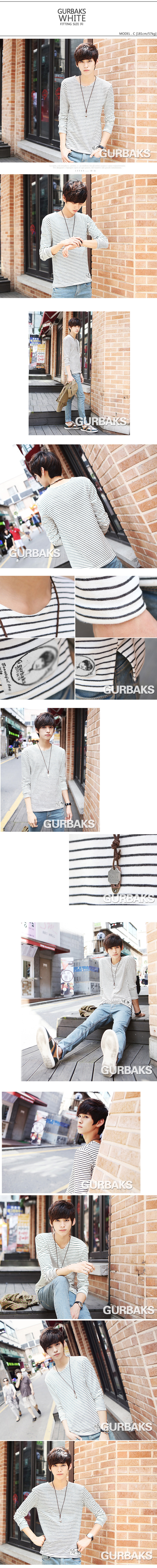 Gurbaks Men's long sleeve 2013 new autumn men's lattice T clothing men shirt long sleeves Korean version T wave of pension