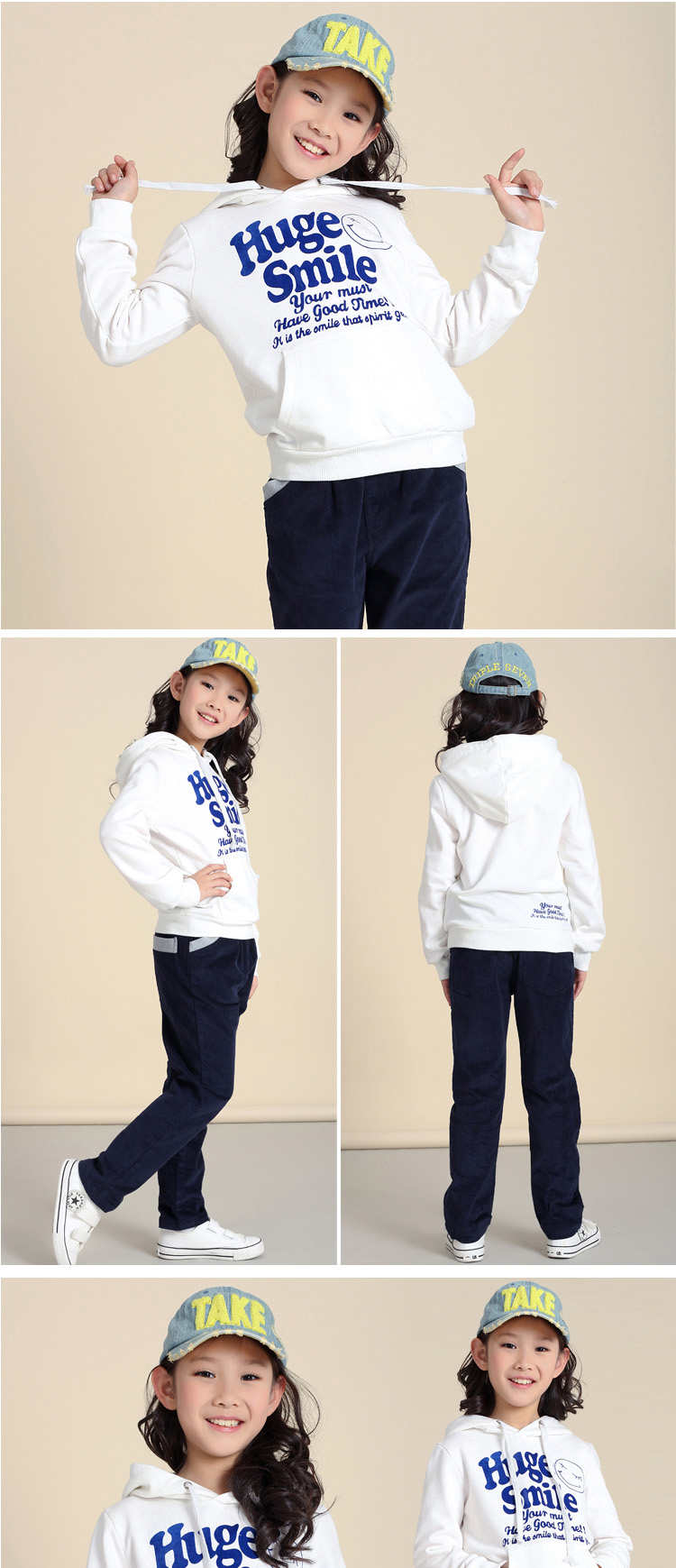 Baoyeah 2013 spring new sweater for girls Korean hooded toe caps sweater big children in the spring and autumn new woman coat