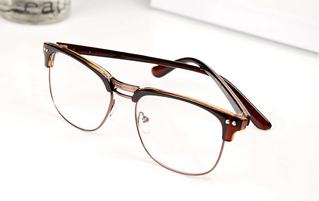 Fashion Hipster Vintage Retro Classic Half frame glasses ...