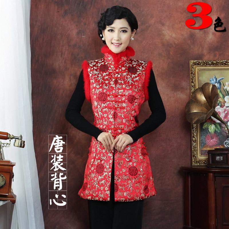 Блузка в китайском национальном стиле Старая мать кролик принести богатство провести осенью и зимой китайской династии Тан костюм жакет без рукавов жилет жилет долго
