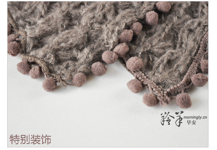 Ms. RGLT knitted Jumpers solid color Korean cape jacket thick scarf can be air-conditioned shawl