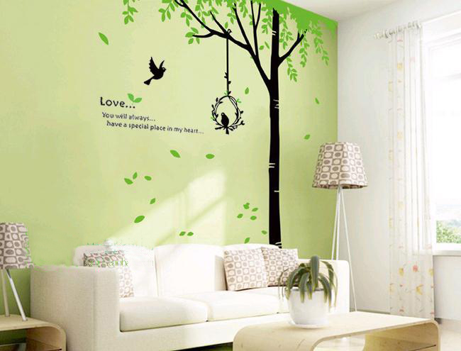 House of attachment Sofa Living Room TV Home Decoration Interior Wall Sticker