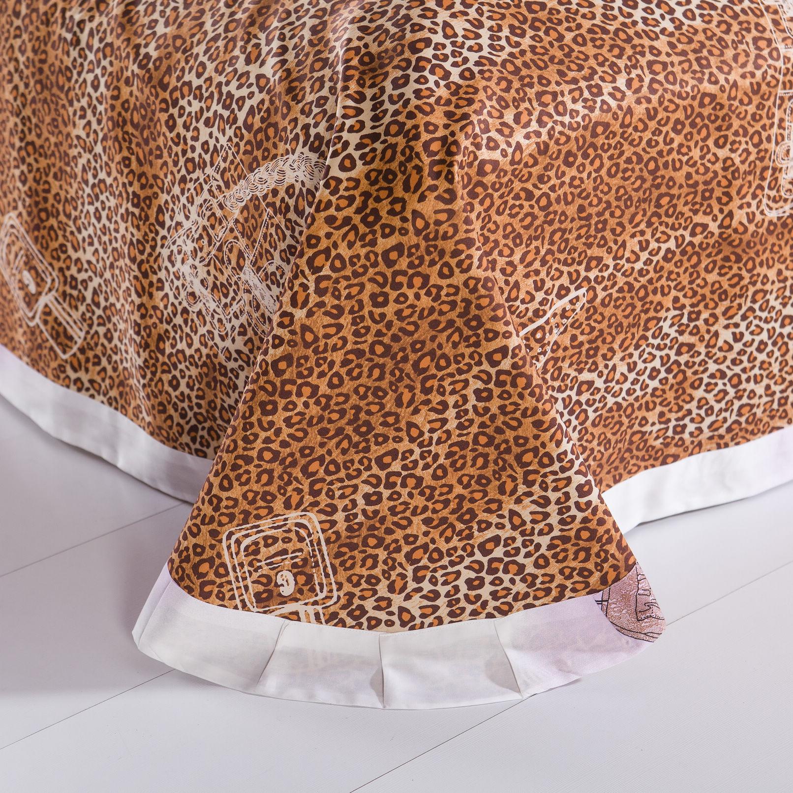 Комплект постельного белья 包邮床上用品布艺软饰悠荷活性斜纹印花简纯棉女正品四件套床单垫