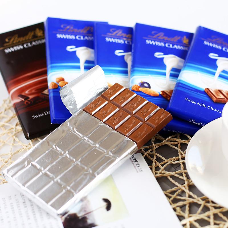 «Кошка супермаркет» молоко Линдт Линдт шоколад изюм орехи, импортированные из Швейцарии строки 100g
