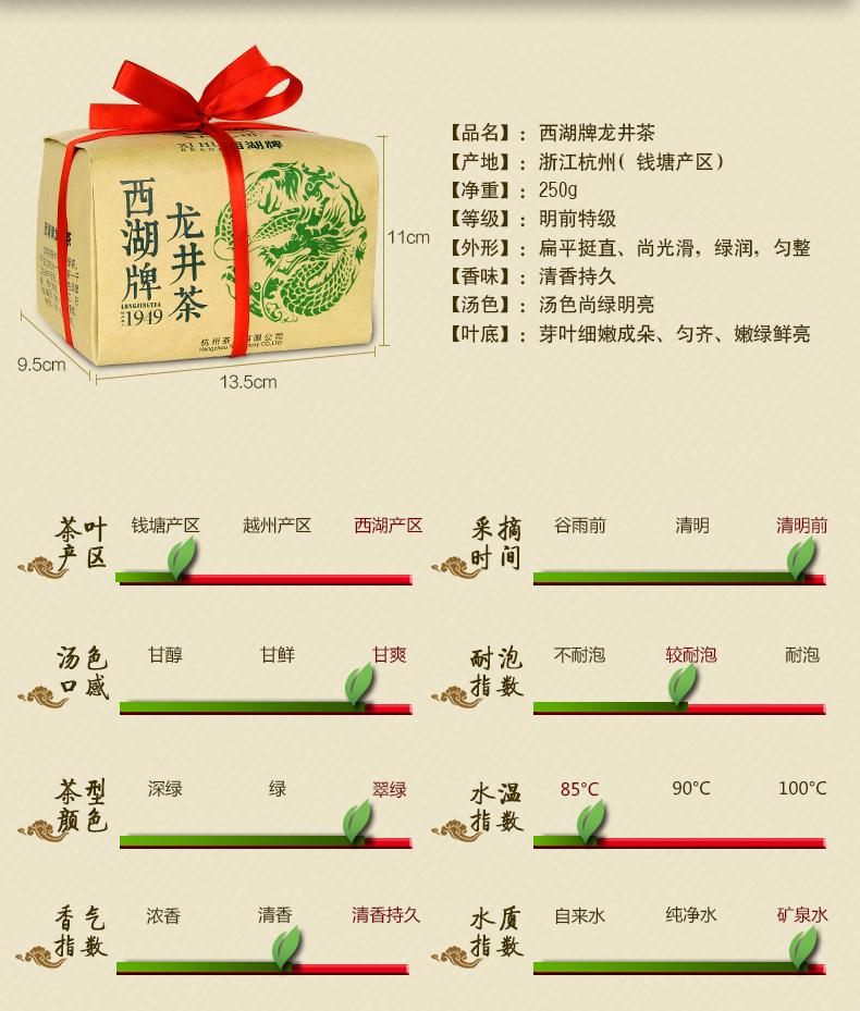 杭州茶厂出品春茶绿茶 250g 西湖牌特级龙井茶 新茶上市 2015