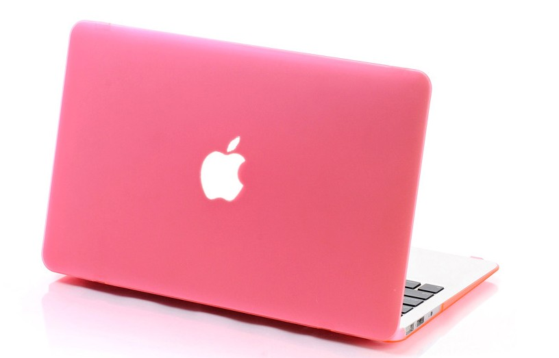 Housse coque matte azerty clavier protection rose pour for Housse macbook air 13