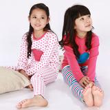 韩版儿童加绒加厚保暖内衣套装