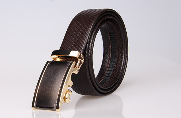 automatic buckle belt , Mens Leather Ratchet Belt,auto lock mens leather belt