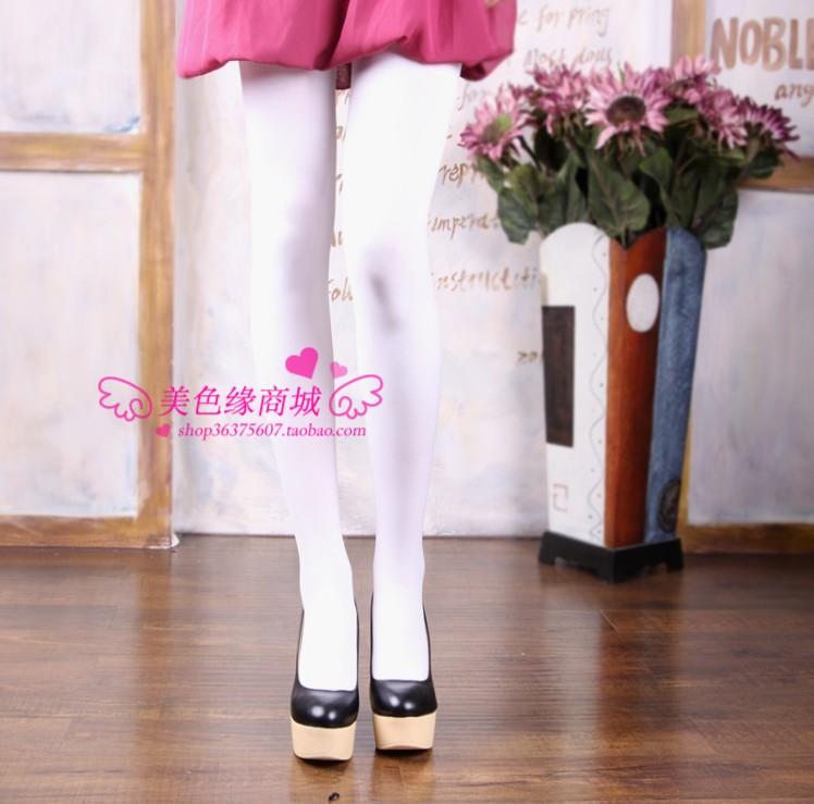 Veegol-HG Classic Velvet White Dancing Leggings Womne Pantyhose