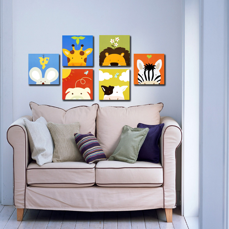 US-squared 2013 models murals decorative painting frame painting living animals, children's room thinking Promotions