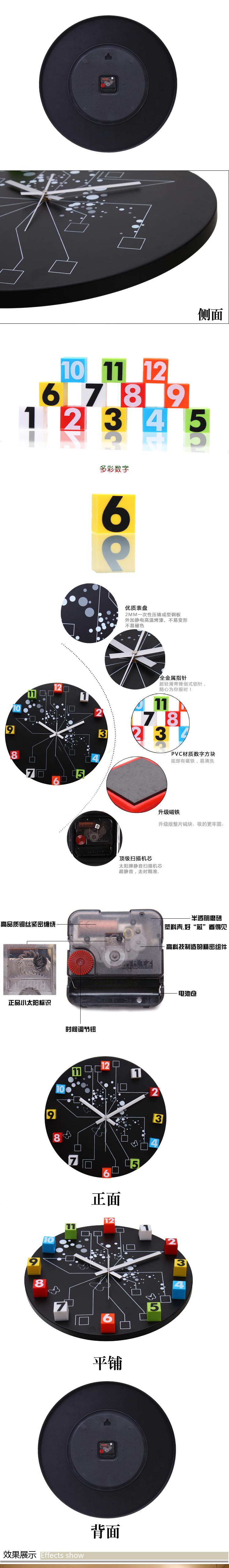Hình ảnh nguồn hàng Đồng hồ treo tường sáng tạo giá sỉ quảng châu taobao 1688 trung quốc về TpHCM