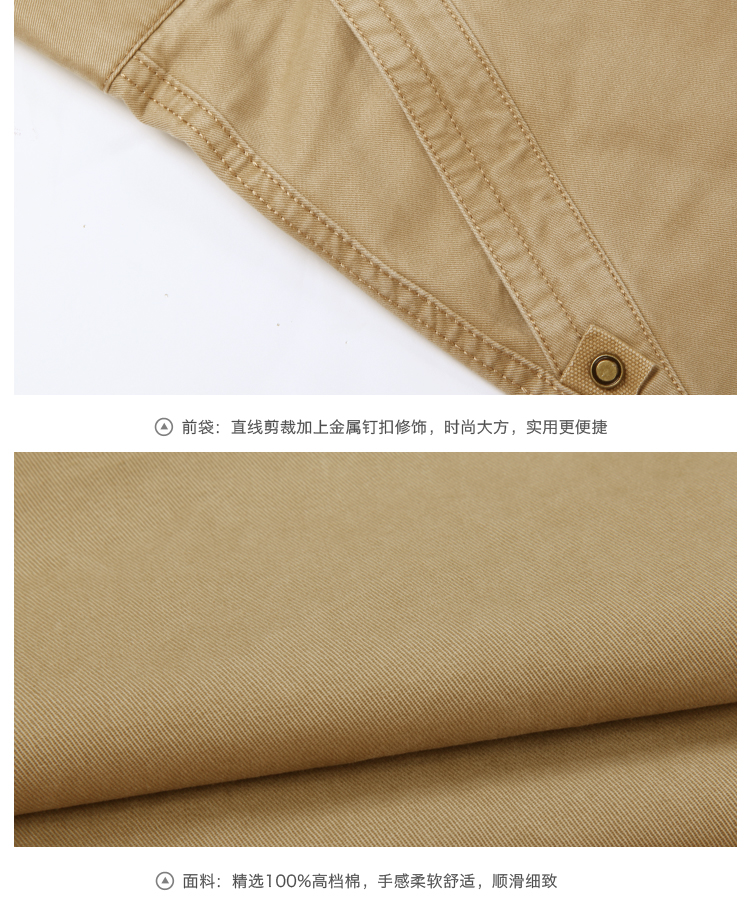 Royal Camel men's summer wear new removable length of two multi-pocket trousers breathable pants casual pants men