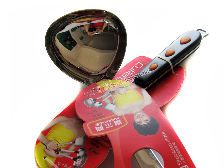 Darfur Xing FC - 002 Stainless steel cooking spoon soup spoon shell Mai Li endorsement super good quality