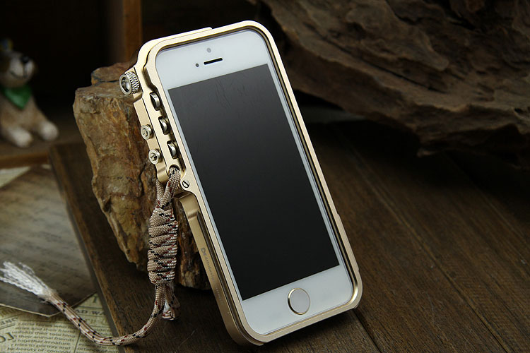 SIMON Mechanical Arm Trigger Aluminum Alloy Metal Bumper Outdoor Case Cover for Apple iPhone SE/5S/5 & iPhone 4S/4
