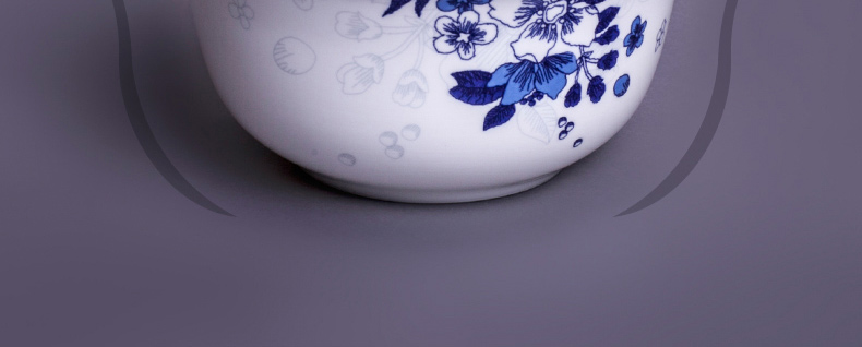 REDLEAF Genuine leaves Jingdezhen Ceramic 56 bone china crockery porcelain tableware suit Korean fashion gifts Orchid
