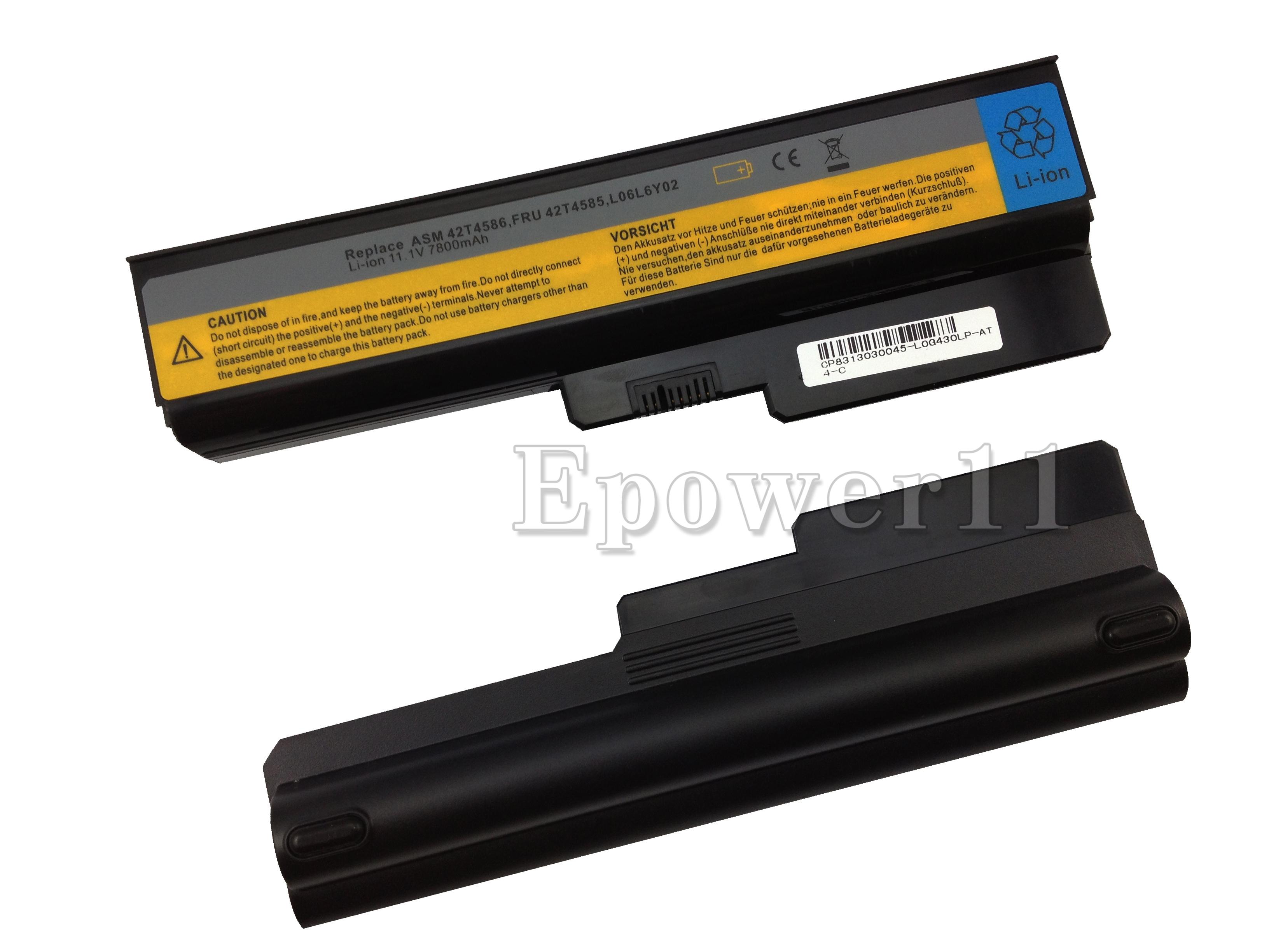 7800mah Batterie Pour Lenovo 3000 G430 G450 G530 G550