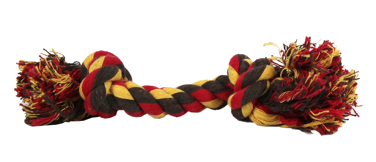 Little friends double knot cord molar bite-resistant rope pet toys