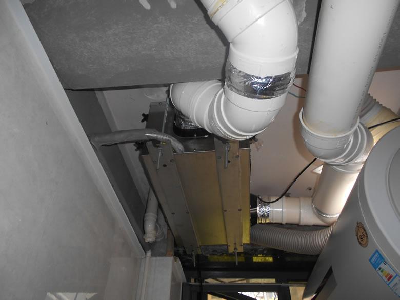 张江名流豪庭吊装式管道除湿机完工图