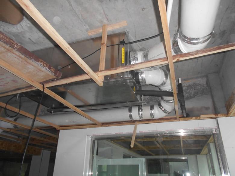 吊装式中央管道除湿机GST-120LD安装完工