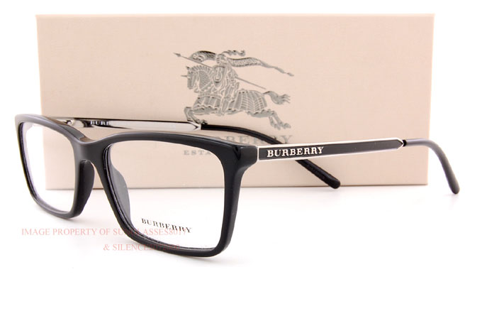 Brand NEW Burberry Eyeglass Frames BE 2126 3001 Black FOR ...