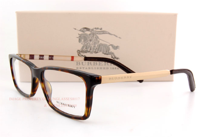 brand new burberry eyeglass frames be 2159q 3002 havana