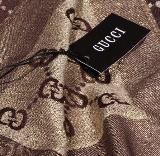 шарф Роскошный большой золотой, 100