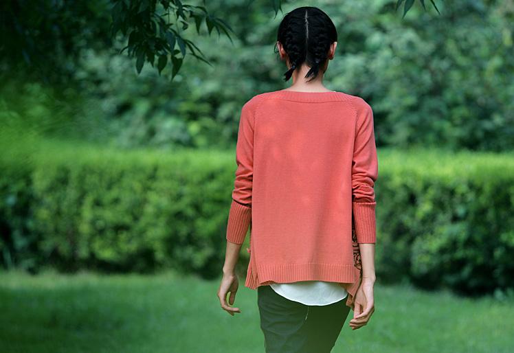 裂帛 裂帛正品 2014秋装新款 女 绣花针织衫 开衫外套23160037浮桑初