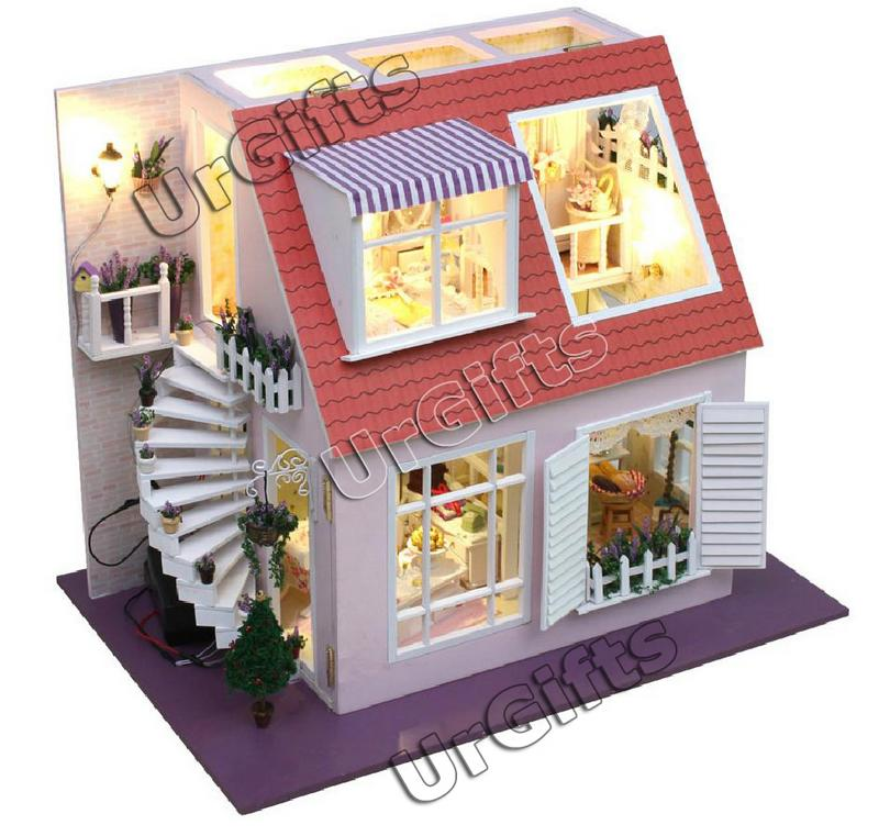 Dollhouse Miniature DIY Kit W/ Cover Light Angel Bay Love